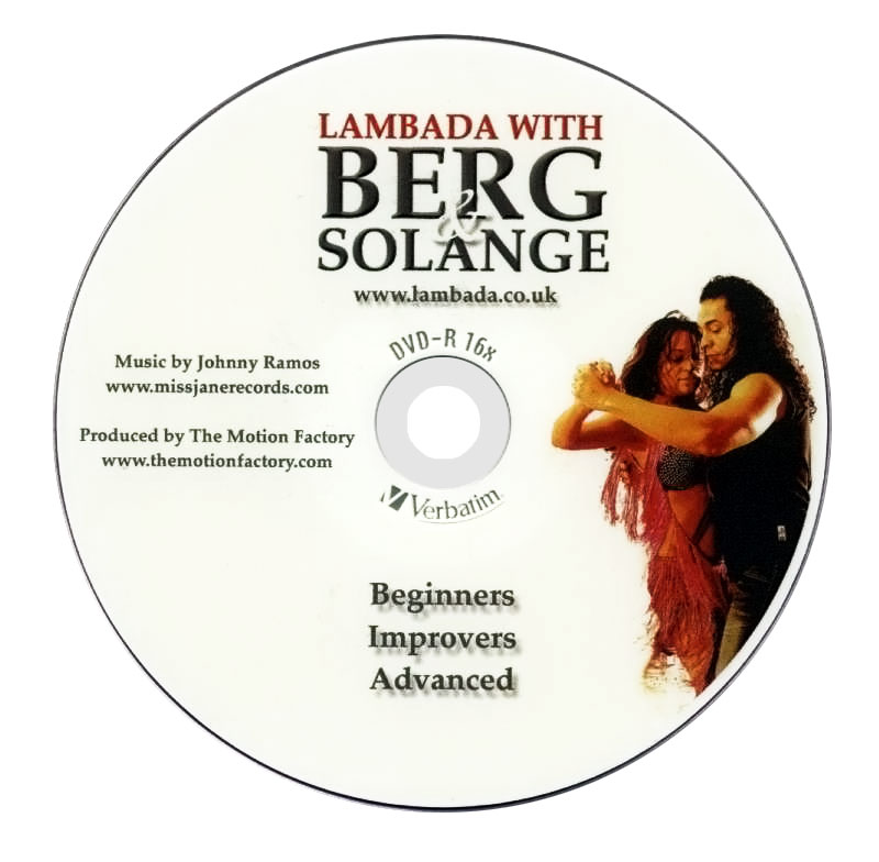Lambada with Berg and Solange instructional DVD full cover: disc